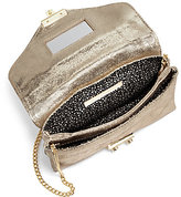 Loeffler Randall Junior Metallic Convertible Lock Clutch