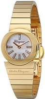 Salvatore Ferragamo Women's F70SBQ5091i S080 Gancino Gold IP Diamonds Watch