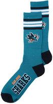 For Bare Feet San Jose Sharks 4 Stripe Deuce Crew Socks
