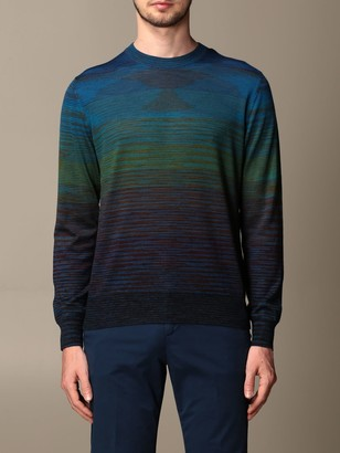 Missoni Sweater With Colored Micro Stripes
