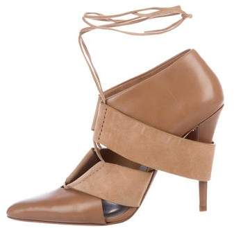 Alexander Wang Leather Lace-Up Booties