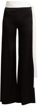 Galvan Vesper Tie-waist Trousers - Womens - Black White