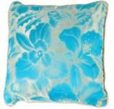 Versace Silk Floral Throw Pillow