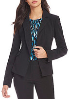 Calvin Klein Scuba Crepe Suiting One-Button Cutaway Jacket