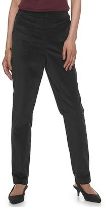 Croft & Barrow Women's Pull-On Stretch Corduroy Pants