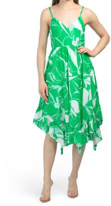 Floral Print Asymmetrical Hem Dress
