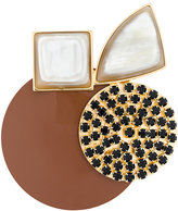 Marni geometric brooch