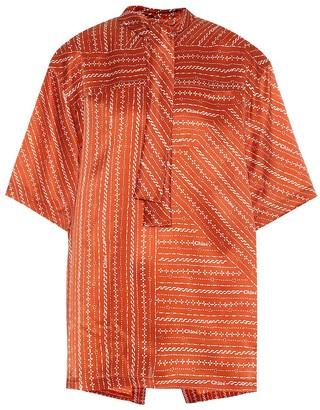 Chloé Printed silk-twill blouse