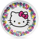 "SANRIO Hello Kitty Melamine Plate 10"" Pink/Black"