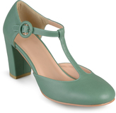 Journee Collection Green Talie T-Strap Pump