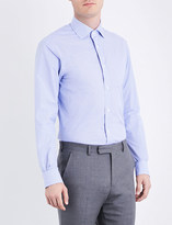 Ralph Lauren Purple Label Ginham tailored-fit cotton shirt