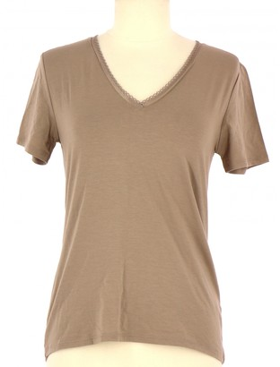 Rodier Beige Cotton Top for Women