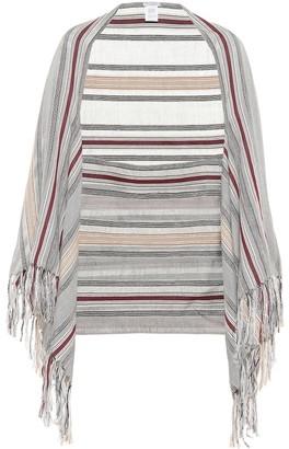 Brunello Cucinelli Fringe-trimmed striped shawl