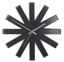 Umbra Ribbon Modern Wall Clock, Silent Non Ticking Battery Operated Quartz Movement