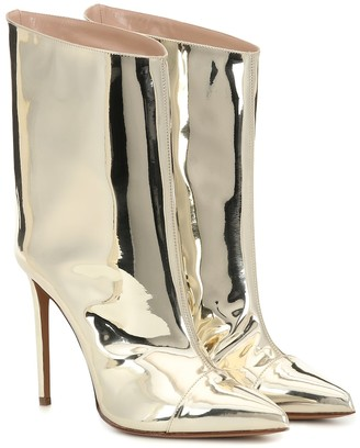Alexandre Vauthier Alex Low metallic ankle boots