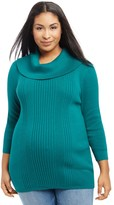 Oh Baby by Motherhood Plus Size Maternity Oh Baby by MotherhoodTM Ribbed Cowlneck Sweater