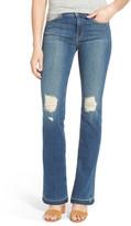 J Brand Brya Mid Rise Shredded Bootcut Jeans