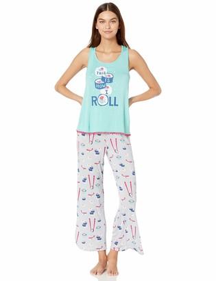 Munki Munki Women's Nite Soft Jersey Knit Tank and Short PJ Set