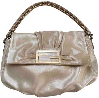 Fendi Mamma Baguette Gold Leather Handbags