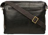 Hidesign Fitch 02 Leather Zip-up Shoulder Bag, Black