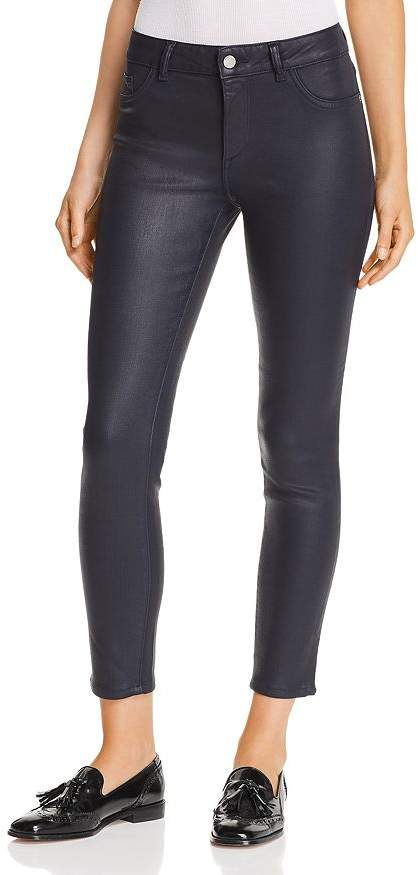 DL1961 Florence Instasculpt Coated Ankle Skinny Jeans in Marin