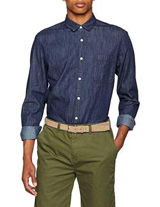ONLY & SONS Men's Onskade Ls Basic Shirt Noos Casual Dark Blue Denim