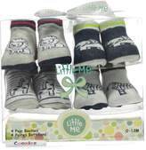 """Little Me Baby Boys' """"Zoo Party"""" 4-Pack Booties"""