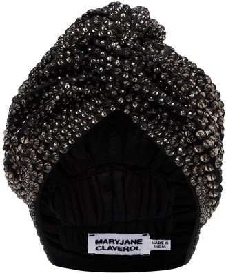 MaryJane Claverol Jones crystal beaded turban