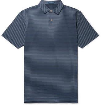 Peter Millar Montgomery Striped Stretch-Jersey Polo Shirt