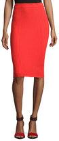 Rebecca Taylor Ribbed Pencil Skirt, Coral