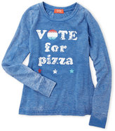 Butter Shoes Girls 7-16) Vote For Pizza Burnout Tee