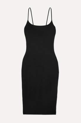 Ninety Percent Net Sustain Stretch-tencel Midi Dress - Black