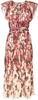 Altuzarra Angi abstract-print plisse dress