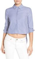 KENDALL + KYLIE Kendall & Kylie Crop Open Back Shirt