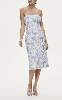 Rachel Gilbert Faris Asymmetrical Dress