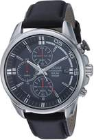 Pulsar Men's Quartz Stainless Steel and Leather Casual Watch, Color: (Model: PZ6023)