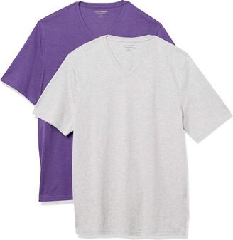 Amazon Essentials Men's Standard 2-Pack Loose-Fit V-Neck T-Shirt
