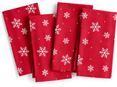 The Cellar Snowflake Collection, Set of 4 Napkins