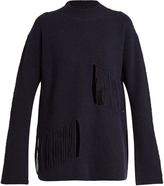Stella McCartney Shredded-panels oversized sweater
