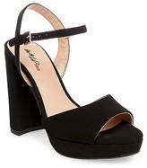 Women's Wild Pair Knitout Platform Block Heel Quarter Strap Sandals