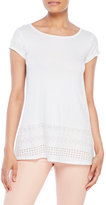 Joseph A Embroidered Short Sleeve Top