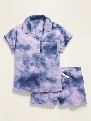Old Navy Printed Twill Pajama Set for Girls