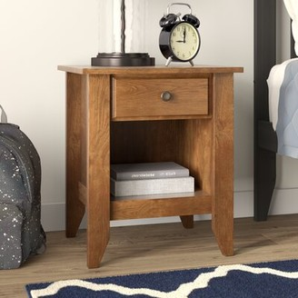Three Posts Baby & Kids Olney 1 - Drawer Nightstand Color: Oiled Oak
