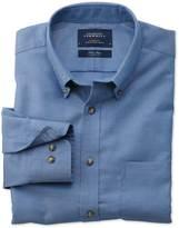 Charles Tyrwhitt Classic fit non-iron twill blue shirt