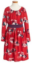 Tea Collection Girl's Kata Obi Floral Print Dress
