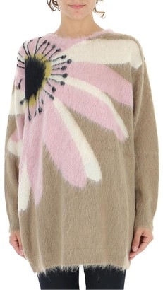 Valentino Oversize Floral Sweater