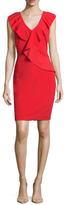 Alexia Admor Ruffle V-Neck Sheath Dress