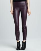 Faux-Leather Leggings, Plum