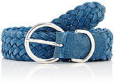 Barneys New York MEN'S WOVEN SUEDE BELT