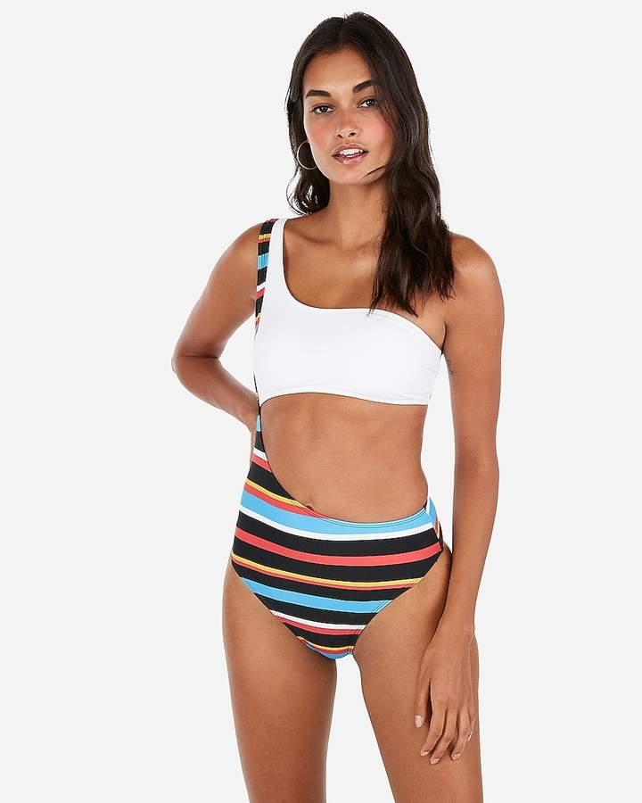 fa3ec5d5e64 One Shoulder Cut Out Swimwear - ShopStyle